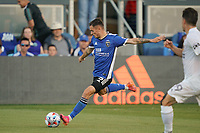 SAN JOSE, CA - JUNE 26: Paul Marie #3 of the San Jose Earthquakes during a game between Los Angeles Galaxy and San Jose Earthquakes at PayPal Park on June 26, 2021 in San Jose, California.