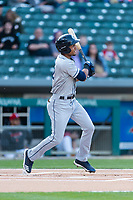 Columbus Clippers right fielder Oscar Mercado (2) during an International League game against the Indianapolis Indians on April 29, 2019 at Victory Field in Indianapolis, Indiana. Indianapolis defeated Columbus 5-3. (Zachary Lucy/Four Seam Images)