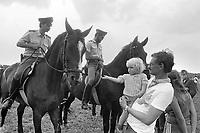 - Germania, Settembre 1983, blocco della base militare USA  di Mutlangen per il dispiegamento degli Euromissili<br /> <br /> - Germany, September 1983, blockade of the US military base in Mutlangen for the deployment of Euromissiles