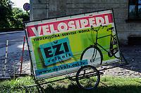 Fahrradverleih in Cesis, Lettland, Europa