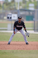 Miami Marlins Lazaro Alonso (72) during a minor league Spring Training game against the New York Mets on March 26, 2017 at the Roger Dean Stadium Complex in Jupiter, Florida.  (Mike Janes/Four Seam Images)