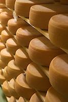 "Europe/Italie/Trentin Haut-Adige/Dolomites/Alta Badia/ San Cassiano: la fromagerie  ""Lüch da P'céi ""de Marina Crazzola   produit un fromage de montagne  apparenté au Gruyère"