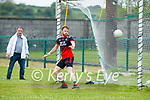 St Michaels Foilmore's keeper Pierce Kirby can only look on as Ballyduff score from the penalty spot in the County Senior football league.