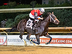August 27, 2021: Lady Rocket #2, ridden by jockey Florent Geroux wins the Misty Bennett Pink Ribbons Stakes at Charles Town Race Course in Charles Town West Virginia on August 27th, 2021. Tim Sudduth/Eclipse Sportswire/CSM