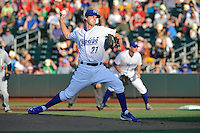 Omaha Storm Chaser pitcher Jake Odorizzi (27) throw a pitch during the game against the Reno Aces at Werner Park on August 3, 2012 in Omaha, Nebraska.(Dennis Hubbard/Four Seam Images)