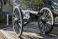 Historic double barrelled cannon, Athens, Georgia, USA