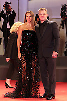 """Venice, Italy - September 10: Matt Damon and wife Luciana Barroso attend the Red Carpet of 20th Century Studios' movie """"The Last Duel"""" during the 78th Venice ival on September 10, 2021 in Venice, Italy. <br /> CAP/MPI/AF<br /> ©AF/MPI/Capital Pictures"""