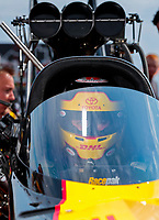 Sep 1, 2019; Clermont, IN, USA; NHRA top fuel driver Richie Crampton during qualifying for the US Nationals at Lucas Oil Raceway. Mandatory Credit: Mark J. Rebilas-USA TODAY Sports