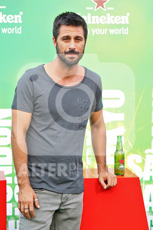 Spanish actor Hugo Silva poses for photographers  during a Heineken event in Madrid, Spain. July 17, 2014. (ALTERPHOTOS/Carlos Dafonte)