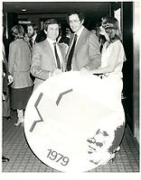 Francis Fox et sa femme<br /> le 10 mars 1979<br /> <br /> <br /> PHOTO :  Agence Quebec Presse