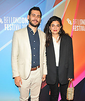 """Francois Nour and Mounia Akl at the 65th BFI London Film Festival """"Costa Brava, Lebanon"""" UK premiere, BFI Southbank, Belvedere Road, on Saturday 09th October 2021, in London, England, UK. <br /> CAP/CAN<br /> ©CAN/Capital Pictures"""
