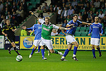 Hibs v St Johnstone...28.09.11   SPL Week.Garry O'Connor takes a dive for a penalty.Picture by Graeme Hart..Copyright Perthshire Picture Agency.Tel: 01738 623350  Mobile: 07990 594431
