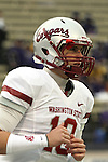 """Washington State freshman quarterback, Jeff Tuel (#10), warms up, despite being injured and not able to play, prior to the Cougars Pac-10 conference """"Apple Cup"""" football game against arch-rival Washington at Husky Stadium in Seattle, Washington, on November 28, 2009."""