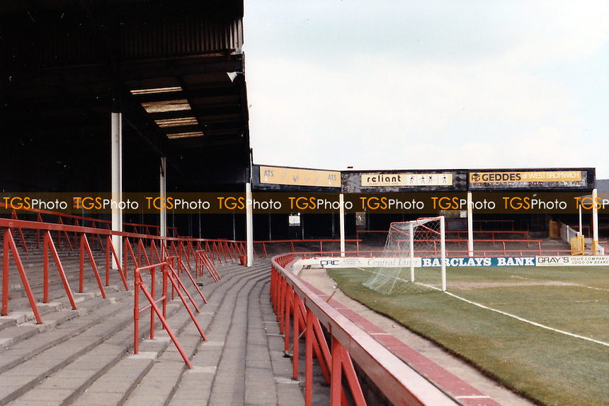 General view of Fellows Park, Walsall Football Club on 4th May 1989