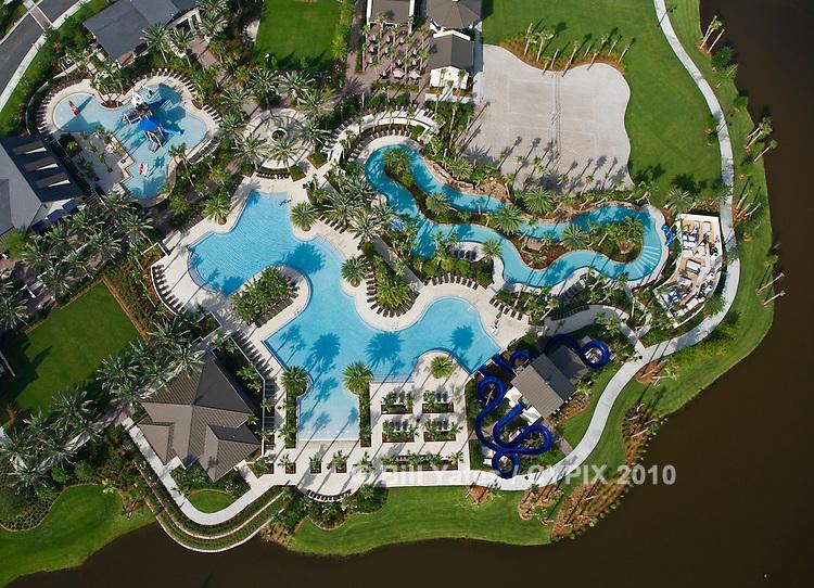 Nocatee Splash Waterpark, Nocatee, FL helicopter aerial