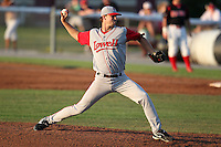Lowell Spinners Pitcher Tyler Wilson (45) during a game vs. the Batavia Muckdogs at Dwyer Stadium in Batavia, New York July 16, 2010.   Batavia defeated Lowell 5-4 with a walk off RBI single.  Photo By Mike Janes/Four Seam Images