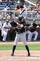 Quad Cities River Bandits shortstop Nick Loftin (2) at bat during a game against the Beloit Snappers on July 18, 2021 at Pohlman Field in Beloit, Wisconsin.  (Brad Krause/Four Seam Images)