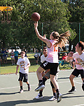 July 8, 2017- Tuscola, IL- Sophie Kremitzki takes the ball to the basket in the 3 on 3 basketball tourney during the 2017 Tuscola Sparks in the Park celebration. [Photo: Douglas Cottle]