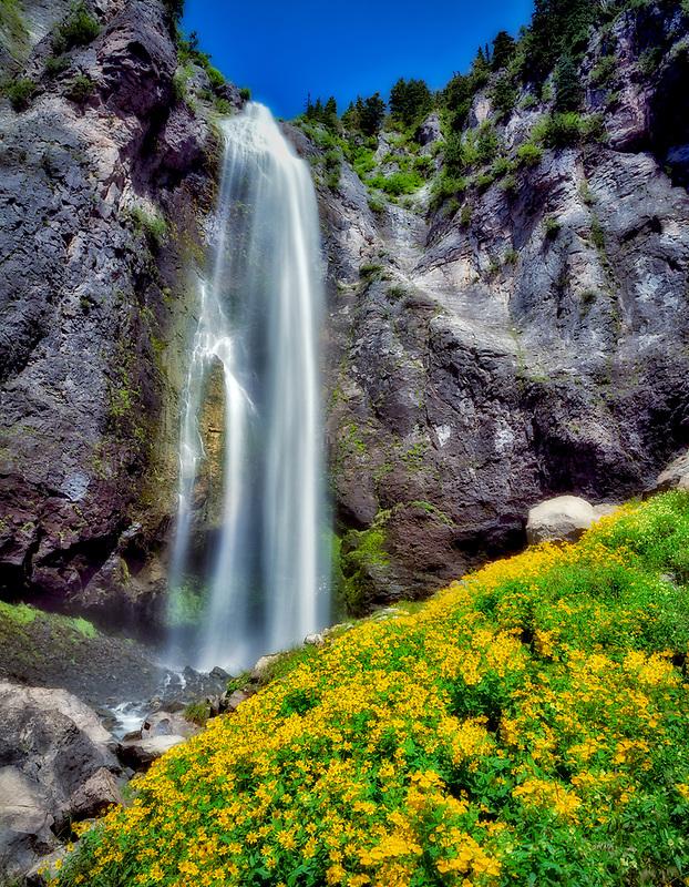 Comet Falls. Mt. Rainier National Park. Washington.