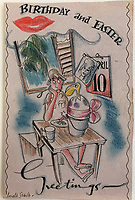 BNPS.co.uk (01202) 558833<br /> Pic: Tennants/BNPS<br /> <br /> Three previously unseen cartoons by Searle were included in the sale. A Happy Birthday and Easter card.<br /> <br /> A British prisoner of war's drawings and photographs of the building of the notorious 'Death Railway' in Burma have sold for £5,000.<br /> <br /> Captain Harry Witheford's accomplished sketches highlight the horrific ordeal endured by the captured soldiers at the hands of their Japanese captors in World War Two.<br /> <br /> The so-called Death Railway along the River Kwai claimed the lives of 12,000 Allied PoWs who were subjected to forced labour during its construction.