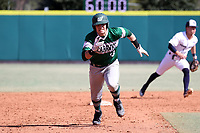 CARY, NC - FEBRUARY 23: David Melfi #13 of Wagner College races to third base during a game between Wagner and Penn State at Coleman Field at USA Baseball National Training Complex on February 23, 2020 in Cary, North Carolina.