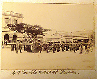 BNPS.co.uk (01202) 558833<br /> Pic: Charles Miller/BNPS<br /> <br /> Taprell Dorling's picture of an artillery parade. <br /> <br /> A fascinating photo album compiled by a British naval officer on tour in the Far East at the turn of the 20th century has come to light.<br /> <br /> Taprell Dorling served on the HMS Terrible in 1900 at the start of an over 30 year career at sea.<br /> <br /> The album, containing 74 photos, has emerged for sale with auctioneers Charles Miller, of London, with an estimate of £3,000.