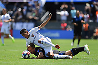 SAN JOSE, CA - JUNE 8: Jesus Ferreira #27, Tommy Thompson #22 during a game between FC Dallas and San Jose Earthquakes at Avaya Stadium on June 8, 2019 in San Jose, California.