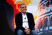 Salvatore Buzzi, condemned for the Mafia Capitale affair, appears as a guest on the tv show 'Non e' l'arena'. In the background on the screen the Colosseum<br /> Rome (Italy), October 11th 2020<br /> Photo Samantha Zucchi Insidefoto