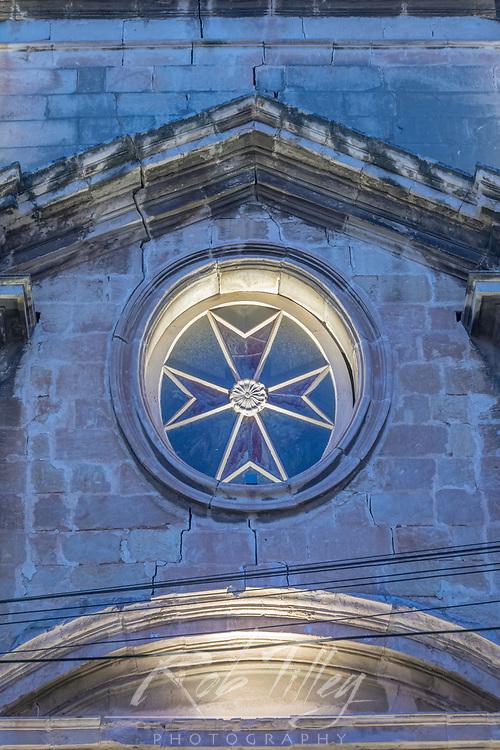 Europe, Malta, Birgu, St. Lawrence Church Detail