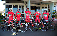 Team Figros Snep before stage three of the NZ Cycle Classic UCI Oceania Tour in Wairarapa, New Zealand on Tuesday, 24 January 2017. Photo: Dave Lintott / lintottphoto.co.nz