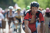 Daniel Oss (ITA/BMC) up the final Cote de la Croix Neuve (2C/1055m/3km/10.1%)<br /> <br /> stage 14: Rodez - Mende (178km)<br /> 2015 Tour de France