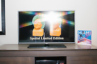 Hillary and Trump Chia Pets on TV - Coconut Grove, FL - 9 Oct 2016