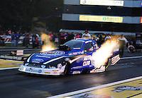 Jun. 1, 2012; Englishtown, NJ, USA: NHRA funny car driver Robert Hight during qualifying for the Supernationals at Raceway Park. Mandatory Credit: Mark J. Rebilas-