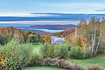 Canada, Quebec, North Hatley, B & B with view of Lake Massawippi