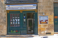 The restaurant Les Epicuriens in Saint Emilion, Bordeaux