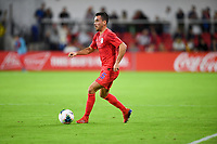 WASHINGTON, D.C. - OCTOBER 11: Daniel Lovitz #5 of the United States moves with the ball during their Nations League game versus Cuba at Audi Field, on October 11, 2019 in Washington D.C.