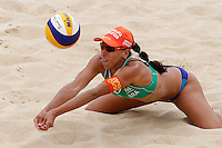Brazil's Taiana Lima in action at the Beach Volleyball World Tour Grand Slam, Foro Italico, Rome, 22 June 2013. Brazil defeated Switzerland 2-1.<br /> UPDATE IMAGES PRESS/Isabella Bonotto