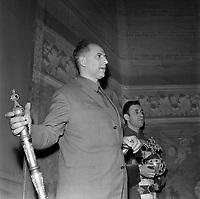 8 Décembre 1963. Vue de la représentation de Boris Godounov avec Yvan Pétrof au théâtre du Capitole.