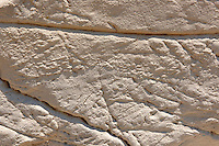 The layers of Limestone rock on Ios Island Greece