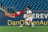 FOXBOROUGH, MA - JULY 23: Kevin Politz #64 of Toronto FC II looks to pass during a game between Toronto FC II and New England Revolution II at Gillette Stadium on July 23, 2021 in Foxborough, Massachusetts.