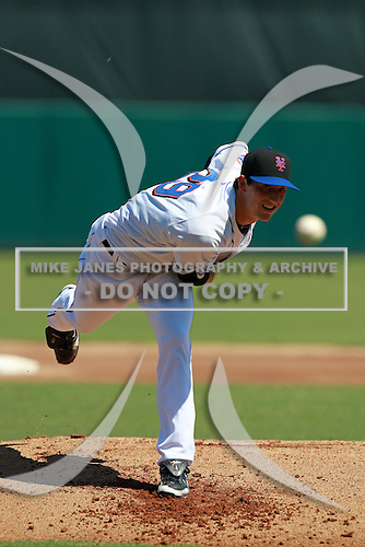 New York Mets minor league pitcher Taylor Whitenton (29) during a game vs. the Minnesota Twins in an Instructional League game at City of Palms Park in Fort Myers, Florida;  October 4, 2010.  Photo By Mike Janes/Four Seam Images