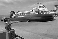 - UK, Hovercraft in passenger service between Portsmouth and the island of Wight, June 1988<br />