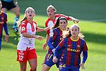Liga IBERDROLA 2020-2021. Jornada: 10<br /> FC Barcelona vs Santa Teresa: 9-0.<br /> Judith Verdaguer, Andrea Pereira & Lieke Martens.