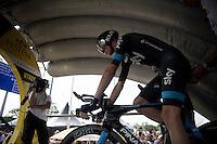 Chris Froome (GBR/SKY) on the start podium<br /> <br /> stage 1 prologue: Utrecht (13.8km)<br /> Tour de France 2015