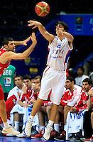 Milos Teodosicduring round 2, group E, basketball game between Serbia and Turkey in Vilnius, Lithuania, Eurobasket 2011, Sunday, September 11, 2011. (photo: Pedja Milosavljevic)