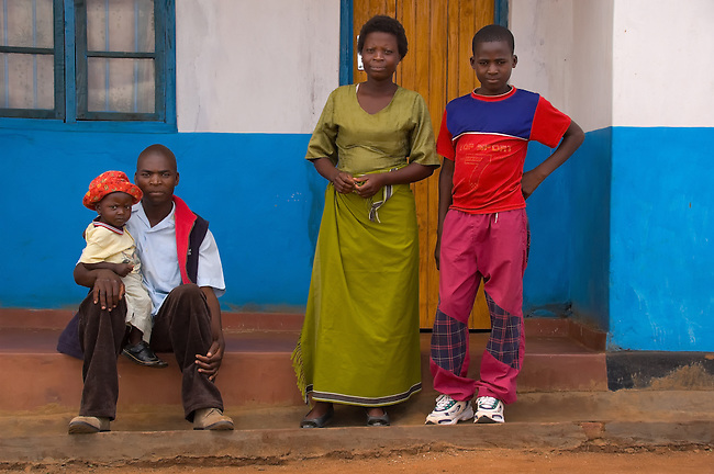 Kennedy with family at his new home, Area 25, Lilongwe