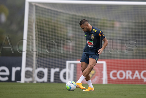11th November 2020; Granja Comary, Teresopolis, Rio de Janeiro, Brazil; Qatar 2022 qualifiers; Renan Lodi of Brazil during training session in Granja Comary