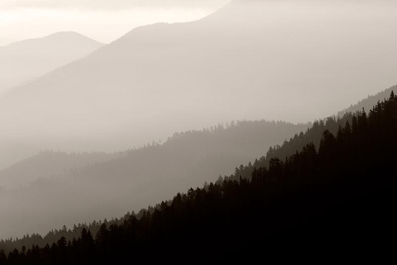 Sunrise and fog. Taken from Hurricane Ridge, Olympic National Park. Washington