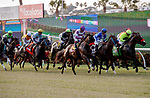 DEL MAR, CA  JULY 16: The start of the Runhappy Ocean side Stakes, on July 16, 2021 at Del Mar Thoroughbred Club in Del Mar, CA<br /> (Photo by Casey Phillips/Eclipse Sportswire/ CSM)