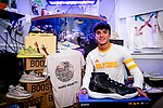 WATERBURY, CT-111920JS15—Holy Cross boys soccer player and business entrepreneur Gennaro Genua inside his Waterbury home on Thursday. <br /> Jim Shannon Republican-American